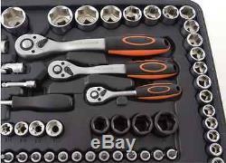 120pcs Chrome Vanadium Sockets set with 1/2 1/43/8 Ratchets Spanner Big Kits