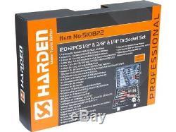 122pcs Ratchet Combination Wrench Metric Bit Socket Hex Torx Tool Set