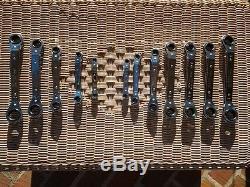 12 Pc SAE/MM Craftsman USA Box-End Offset Ratcheting Wrench Set 43027