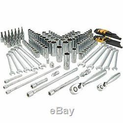 156-Piece DEWALT Socket & Mechanics Tools Set, Ratchet Joint Wrenches Hex more