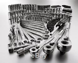 165 pc. Mechanics Tool Set Standard Metrice Socket Ratchet Wrench Case