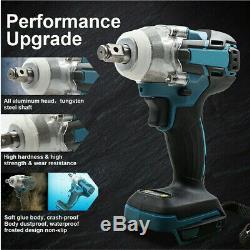 18V 520Nm 1/2 Cordless Impact Wrench Driver Ratchet Rattle Nut Gun+ Battery