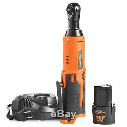 1/4 Drive Cordless Electric Ratchet Wrench Set 12V Lithium-Ion Battery Charger