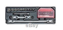 43 Pc. 1/4inch Drive Long Multi-Function Ratchet Set NEW