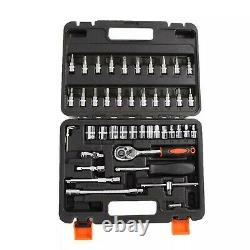 46 pcs Socket Set box Car Repair Ratchet Wrench Universal Tool Kit Hot Deals New