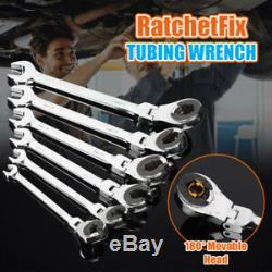 72-Tooth RatchetFix Tubing Wrench Set With Flexible Head Car Hand Repair Tools