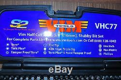 77 Pc. Half Cut Stubby Bit Set with 1/4 x 5/16 Bit Ratchet Wrench VIM VHC77