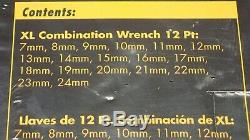 81920 GearWrench 18 Pc. METRIC XL Combination Wrench Set 7mm-24mm, 12 Points