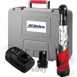 ACDelco Cordless 12V Heavy Duty 3/8 Ratchet Wrench Tool Set with 2Li-ion Battery