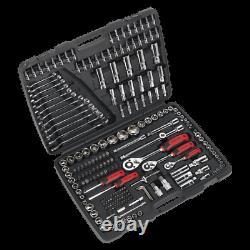 AK7956 Sealey Socket Tool Set 216pc 1/4 3/8 1/2Sq Drive 6pt WallDrive Metric