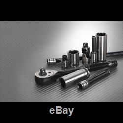 AK7970 Sealey PREMIER BLACK SERIES Socket Set 32pc 1/4 Sq 6pt WallDrive Metric