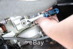 BGS Germany 52-pcs GoThrough Reversible Ratchet Socket Set 1/4dr 3/8dr 1/2dr