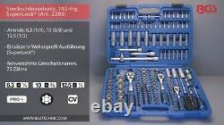 BGS Steckschlüssel-Satz Wellenprofil 63mm 1/4 / 10mm 3/8 / 125mm 1/2 192-tlg