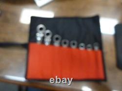 BLACKHAWK by PROTO 8-Piece SAE Ratcheting Chrome Combination Wrench Set Flex NEW