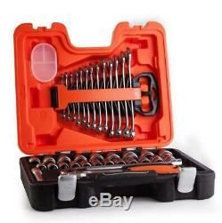 Bahco 40 Pce 1/2 Socket Wrench Ratchet & Combination Spanner Set + Case S400