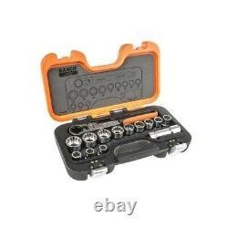 Bahco S140T Pass Through 14 Piece Socket Set 3/4 Drive Flexi Head Ratchet Handle
