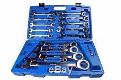 Bergen 17pc Metric Gear Ratchet Combination Wrench Set B1891