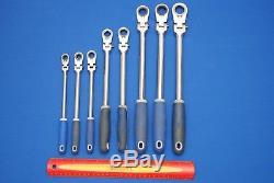 Blue-Point 8 Piece 12-Point SAE Locking Flex-Head Ratcheting Box Wrench Set