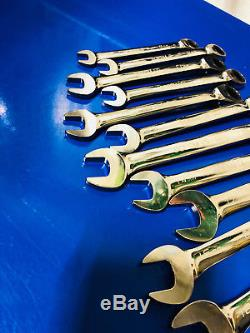 Blue Point BOERM712 12 PC/PT, Metric, Ratcheting Box/Open Wrench Set 8mm-19mm