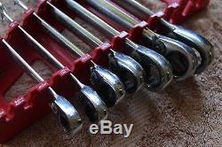 Blue Point STANDARD Ratcheting Wrench set 7pcs BOER708 by snap on 3/8 3/4