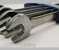 Bluepoint sold by Snap On 4 pc 12-Point Metric 15° Offset Ratcheting spanner set