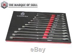 Britool Hallmark 12 Piece Metric XL Ratcheting Box Wrench Set 8 19mm RRXLSET12
