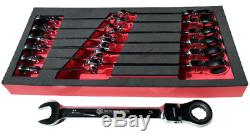 Britool Hallmark 13 piece Flexible Ratchet Combination Spanner Set 8 21mm