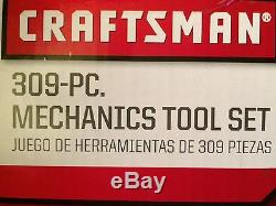 CRAFTSMAN MECHANICS TOOL SET with Ratcheting Combination Wrenches 309pc 41309
