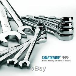 Capri Tools Ratcheting Wrench Set, True 100-Tooth, 1/4 to 1 in, SAE, 13-Piece