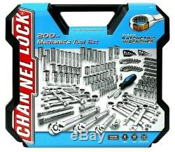 Channel Lock Mechanics Forged Steel Tool Set 200 piece Ratchet Wrenches with Case