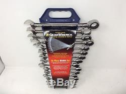 (Closeout) GearWrench 9416 16 Piece Metric Combination Ratcheting Wrench Set