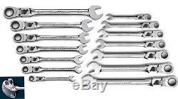 Craftsman 14pc Locking Flex Head Ratcheting Combination Metric MM SAE Wrench Set