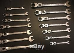 Craftsman 14pc Metric Standard Reversible Locking Flex Ratcheting Wrench Set