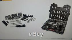 Craftsman 165 pc Mechanics Tool Set Standard Metric Socket Ratchet Wrench 36165