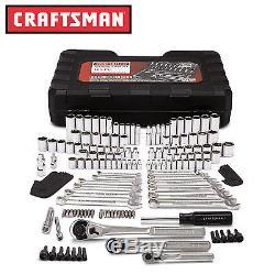 Craftsman 165 pc. Mechanics Tool Set Standard Metric Socket Ratchet Wrench Case