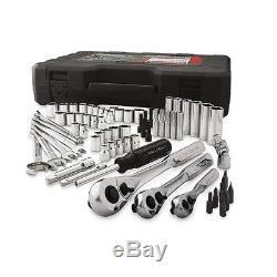 Craftsman 165pc Mechanic Tool Set Standard Metric Ratchet Silver Kit Wrench Case
