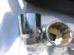 Craftsman 18 Piece (Inch) 3/4 Inch Drive Socket Wrench Set Ratchet VL- 44804 USA