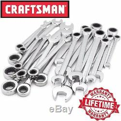 Craftsman 20-Piece Ratchet Combination Wrench Set, Standard SAE & Metric Tools