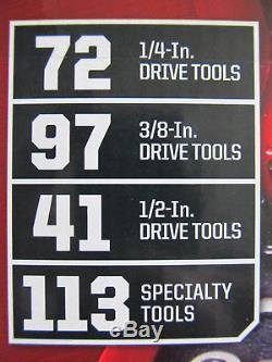 Craftsman 323 pc Mechanics Tool Set #17155 Sockets Ratcheting Wrenches 311 309