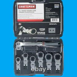 Craftsman 3D Transformer Tool Ratcheting Compound Action Wrench Set MM Metric
