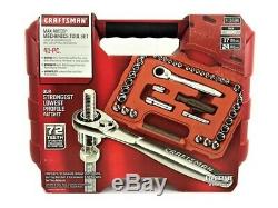 Craftsman 41 pc. Piece 1/4 & 3/8 inch Drive Max Axess Socket Wrench Set 41484