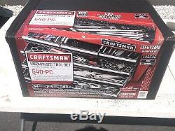 Craftsman 540-piece Mechanics Tool Set with 84T Ratchet Ratcheting Wrench NEW