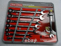 Craftsman MM Combination Ratcheting Wrench Set, made in USA 8 pcs Part # 42451