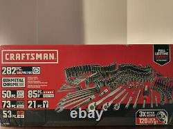 Craftsman Mechanics Tool Set SAE/Metric Gunmetal Chrome 282pc CMMT45282 NEW