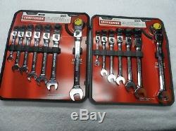 Craftsman SAE & MM Locking Head Flex Ratcheting Wrench Set Part # 42400/42401