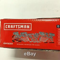Craftsman Standard and Metric Mechanics Tool Set 309-Piece Chrome CMMT82333