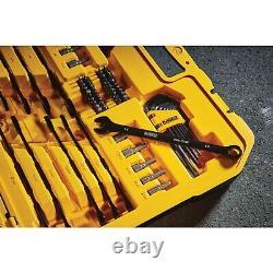 DEWALT 184-PC BLACK CHROME Mechanic's Ratchet Tool Set LIFETIME WARRANTY, case