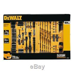 DEWALT 184-pc Black Chrome Mechanics Tool Set, Hard Case LIFETIME WARRANTY