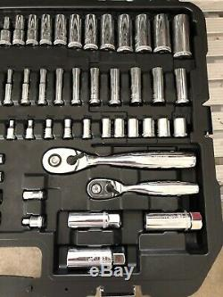 DEWALT Chrome Mechanics Tool Set Ratchet Socket Wrenches Hex Keys Bit