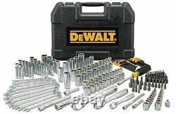 DEWALT DWMT81534 205Pc Mechanics Tool Set Sockets Wrenches Metric SAE NEW